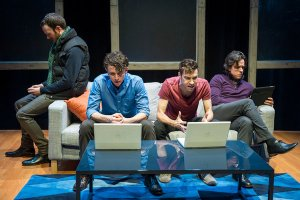 "Original Off-Broadway cast of ""from White Plains:"" Jimmy King, Aaron Rossini, Karl Gregory and Craig Wesley Divino."