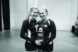 Seniors womens club Vball B&W