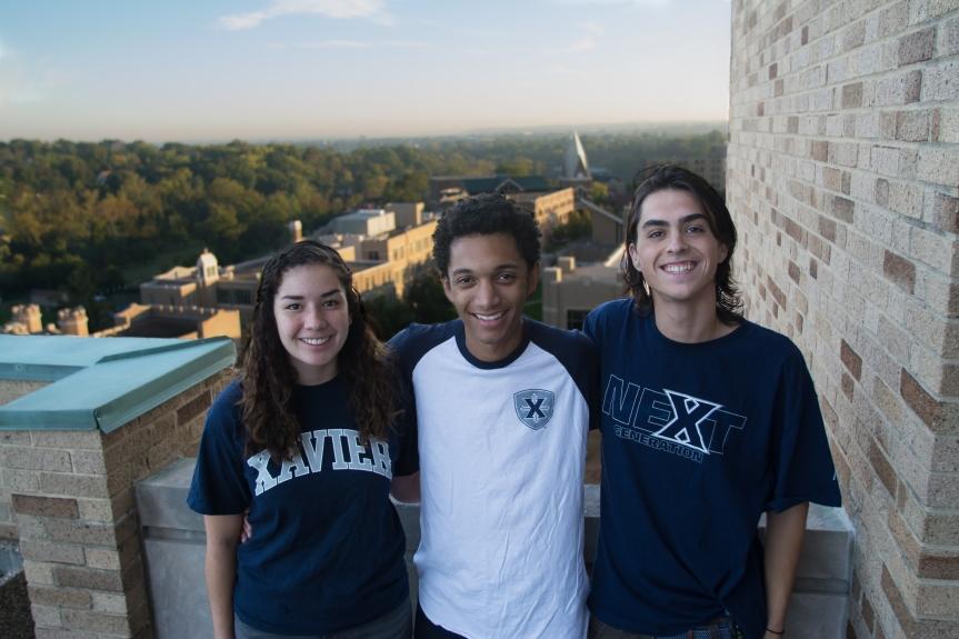 Kiana Salazar, Caleb Mickler and Michael Quigley are running for SGA administrative vice president, president, and legislative vice president, respectively.