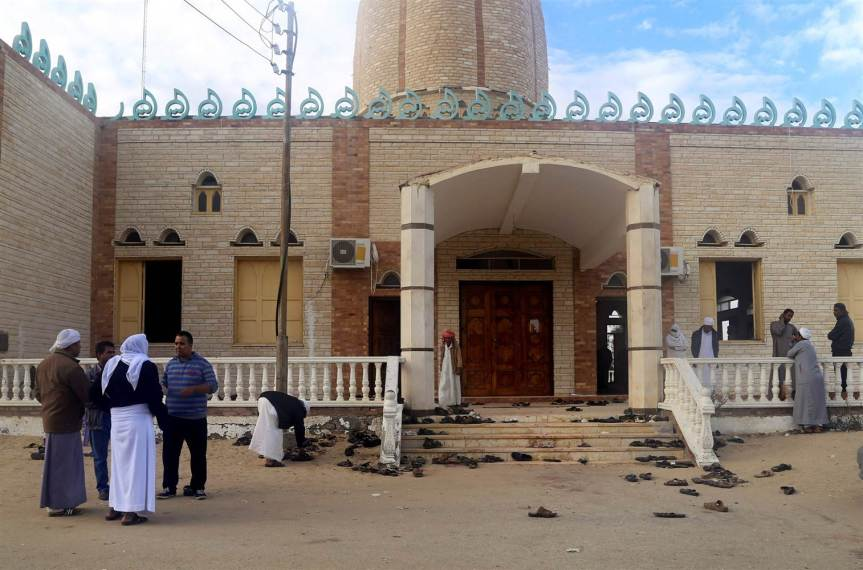Mosque attacked during aservice
