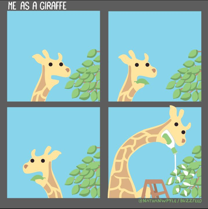 giraffe comic-Nathan W Pyle Buzzfeed